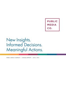 Public Media Company 2014-15 Annual Report