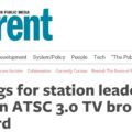 Meetings for Station Leaders Will Focus on ATSC 3.0 TV Broadcast Standard
