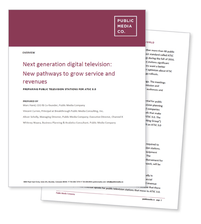 Next Generation Digital Television: New Pathways to Grow Service